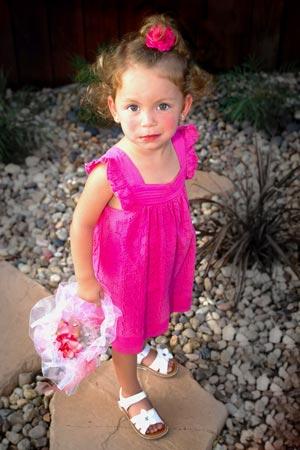 Wedding photo girl