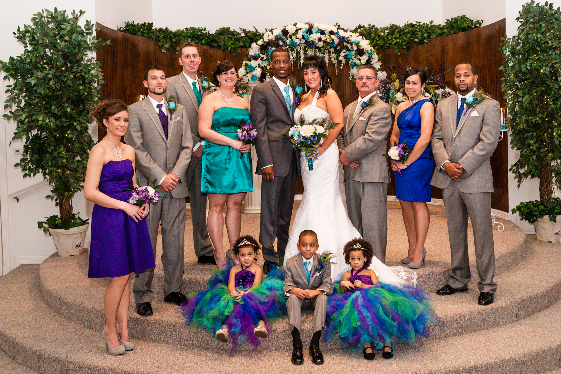 The White Wedding Chapel bridal party photography