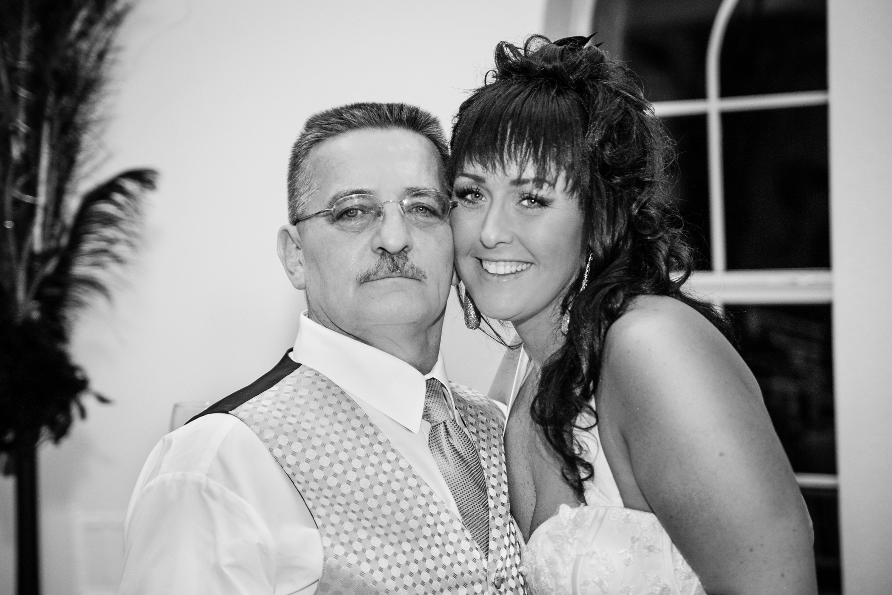 Bride with dad portrait